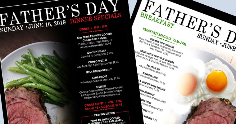 Father's Day Specials – Jun 16